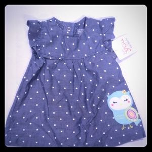 NWT Carters size 3 month owl dress